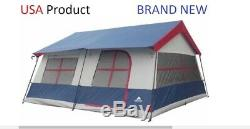 NEW OZARK TRAILS Tent Large 14-Person 3 Room 14' x 14' Outdoor Camping Vacation