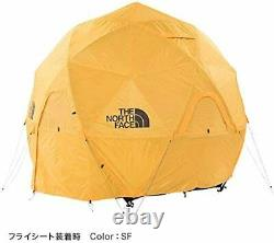 NORTH FACE ent Geodome 4 NV21800 Saffron Yellow From Japan New