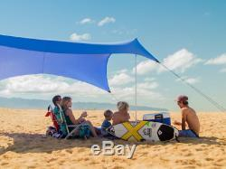 Neso Tents Grande Beach Tent, 7ft Tall, 9 x 9ft, Reinforced Corners and Cooler