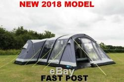 New 2018 Kampa Bergen 6 Berth Large Air Pro person man family inflatable tent