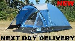 New 2018 Kampa Brighton 3 Person Man Family Festival lightweight Dome Tent Large