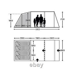 New 2021 Kampa Hayling 4 AIR Pro 4 man Berth Person Inflatable Large Tent
