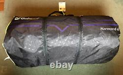 New Outwell Harwood 6 Family Tent 6 Person 3 Sleeping Areas