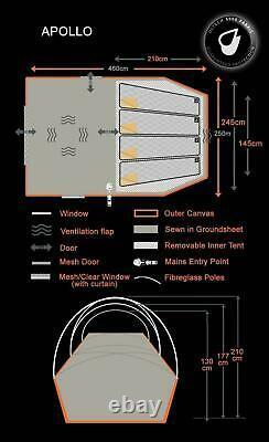 OLPRO Apollo 4 Berth Dome Tent