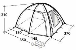 OUTWELL ARIZONA 300 LARGE DOME TENT 3 person separate sleeping quarters