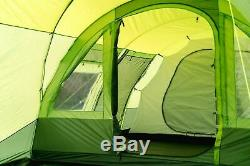Olpro The Malvern Large 6 Berth 2 Rooms 5000mm Hydrostatic Tent Green FAMILY