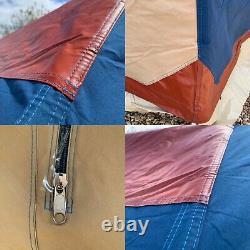 Original Cabanon half moon frame tent, heavy duty canvas, 4 berth, top of range
