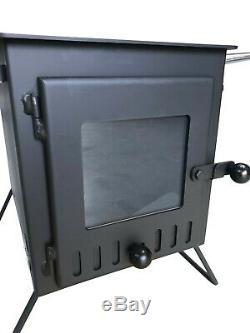 Outbacker Firebox Eco Burn Large Window Portable Wood Burning Tent Stove
