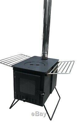 Outbacker Firebox Vista- Large Window Portable Wood Burner Free Bag