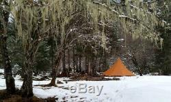 Outdoor Camping Teepee Silicon Coated Pyramid Large Waterproof Hiking Tents