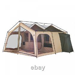 Outdoor Camping Tent 14 Person Large 2 Room Family Lodge Screen Porch