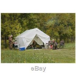 Outdoor Canvas Tent Shelter Bundle Storage Floor Frame Camp Cabin 10 x 12 ft New