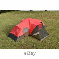 Outdoor Family Camping Cabin Tent 10 Person Ozark Trail Hiking Shelter 2 Doors