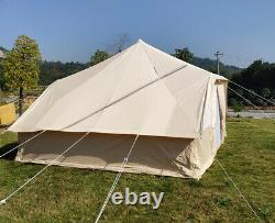 Outdoor Large Glamping Safari Bell Tent Of 5X4M Toureg Tent With Double Door