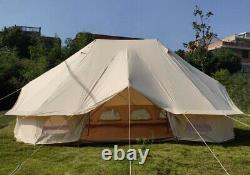 Outdoor Luxury 4X6M Emperor Bell Tent Waterproof Glamping Tent Large Yurt Tent