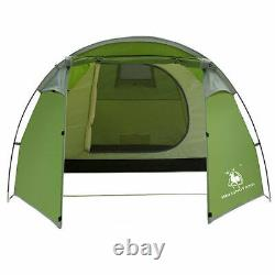 Outdoor Waterproof Camping Tunnel Large Tent 3 4 Person Man Family Tents