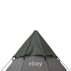 Outsunny 6-7 Person Large Family Party Camping Tent With Carrying Bag, Mesh Window