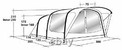 Outwell Cedarville 5A Tent 5 person two bedrooms INFLATABLE TENT