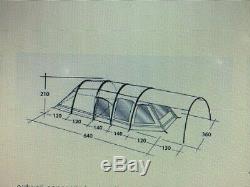 Outwell Concorde L Air Beam Beige Tent, Air Pump, Footprint & Carpet