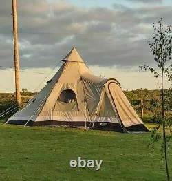 Outwell Indian Lake Large Polycotton Teepee Tent With Bedroom Inner