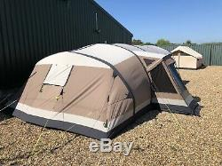 Outwell Montana 6 SATC Poly cotton Large Family Air Tent With Awning And Extras