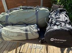 Outwell Norfolk Lake Family Tent, side-extension & Carpet. Excellent Condition