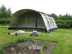 Outwell Wolf Lake 7 Tent. Large Family Tent + Ground Sheet. Technical Cotton