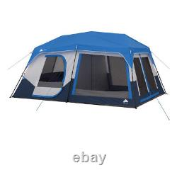 Ozark Trail 10-Person Instant Cabin Tent with LED Lighted Poles Blue