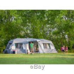 Ozark Trail 15 Person Split Plan Instant Cabin Tent Large Room Camping Shelter