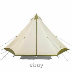 Ozark Trail Khaki 8 Person Teepee Tent Indian Wigwam Large Outdoor Foldable