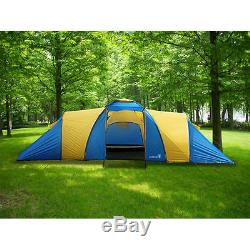 Peaktop 3 Rooms 9 Persons Waterproof Large Family Group Camping Tent
