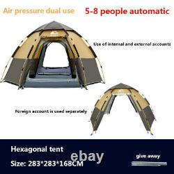 Quick Automatic Opening Camping Tents Large Awning Outdoor Style Family Tent New