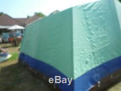 Relum 7 Berth Vintage Retro Framestrong Canvas Tent Large 4.3 X 4 Metres