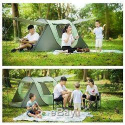 S/L Camping Automatic Instant Popup Tent 4 / 8 Person Waterproof Outdoor US