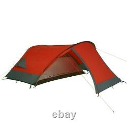 Silicone Biker 2 dome tent, 2 person tent waterproof 5000mm Orange-Red