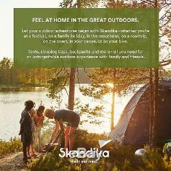 Skandika Hurric Large Family Tunnel Camping Tent with 2-4 Sleeping Cabins, 5000