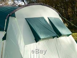 Skandika Hurricane 8 Family Tunnel Tent, Large Green Brand New