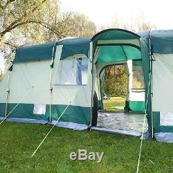 Skandika Hurricane 8 Person/Man Family Tunnel Tent Large Group 5000mm Column New