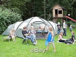 Skandika Korsika Large Spacious 10-Person Family Group Camping Tent with 3 Room