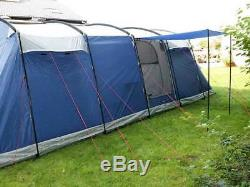Skandika Milano 10 Person/Man Large Family Tunnel Tent Sewn-in Groundsheet New