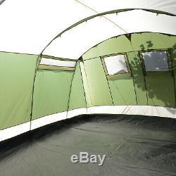 Skandika Milano 10 Person/Man Large Family Tunnel Tent Sewn-in Groundsheet New
