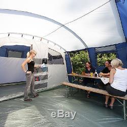 Skandika Milano 6 Person/Man Large Family Tunnel Tent Sewn-in Groundsheet New