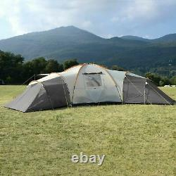Skandika Turin 12 Person 3 Bedroom Family Festival Camping Outdoor Tent (A117)