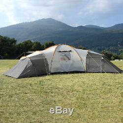 Skandika Turin 12 Person/Man Family Dome Tent 3 Sleeping Pods XL Camping New