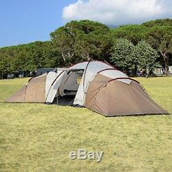 Skandika Turin Large Family Group 12-Person Tent with 3 Sleeping Rooms and Sun C