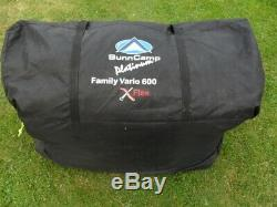 Sunncamp Vario 6 Platinum Family Tent. Large Size. Collection DY9