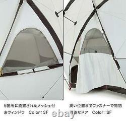 THE NORTH FACE NV21800 Geodome 4 Tent Saffron Yellow 6 Poll 3 season 4 Person
