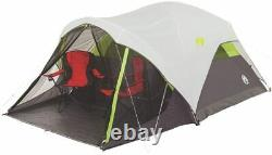 Tent Camping Coleman 6 Person Fast Weatherproof Durable Screened Porch 10' x 9