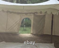 Tent Medieval Burgundian LARP Large heavy Cotton canvas 22ft x 12ft x 9ft