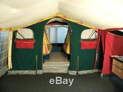 Trailer Tent Raclet Acropolis trailer tent plus large awning, green/grey